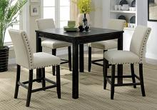 CM3314PT-5PK 5 pc Kristie antique black finish wood counter height dining table set