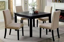 CM3314T-5PK 5 pc Kristie antique black finish wood square dining table set
