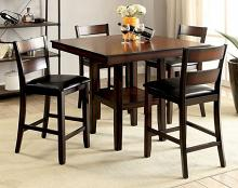 CM3351PT-5PK 5 pc Norah II brown cherry wood finish counter height dining table set