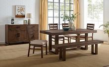 CM3358A-T 6 pc Canora grey mel lidgerwood dark oak finish wood dining table set