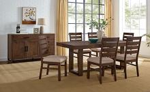 CM3358A-T-7PC 7 pc Canora grey mel lidgerwood dark oak finish wood dining table set