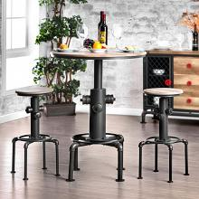 CM3367BT-3PC 3 pc Foskey antique black fire hydrant inspired bar height table set