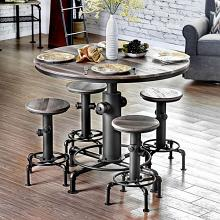 CM3367PT-5PC 5 pc Foskey antique black fire hydrant inspired counter height bar table set