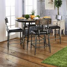 CM3370RPT-5PC 5 pc Mullane weathered gray finish wood counter height dining table set