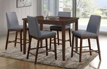 CM3372PT-5PC 5 pc Brayden studio kellogg marten brown cherry finish wood counter height dining table set
