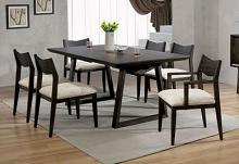CM3398T-7PC 7 pc Brayden studio trosky meridian dark walnut finish wood dining table set