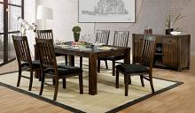 CM3410T-7PC 7 pc Millwood pines millen scranton rustic walnut finish wood dining table set
