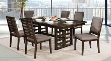 CM3438T-7PC 7 pc Gracie oaks bonnie ryegate walnut finish wood trestle base dining table set