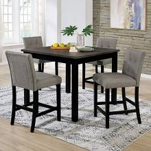 CM3480PT-5PK 5 PC Wildon home Delemont I black and grey finish wood counter height dining table set