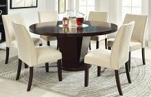 "CM3556T-7PC 7 pc Plattsburgh cimma espresso finish wood 60"" round dining table set"