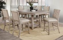 CM3576PT-7PC 7 pc Gray barn windswept ledyard rustic natural tone finish wood counter height dining table set
