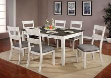 CM3715T-7PK 7 pc One allium way truman anadia antique white/gray finish wood dining table set