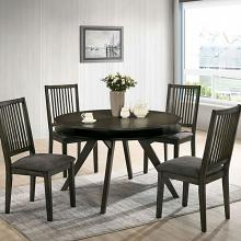 CM3724RT-5PC 5 pc Gracie oaks cherie gray finish wood mid-century modern round dining table set