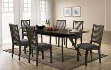 CM3724T-7PC 7 pc Gracie oaks cherie gray finish wood mid-century modern dining table set