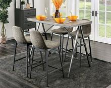 CM3740PT-5PC 5 pc Ebern designs savona dark gray finish wood counter height dining table set