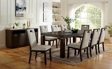 CM3784T 9 pc Canora grey mel caterina dark walnut finish wood dining table set