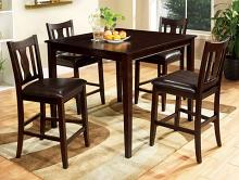 CM3888PT-5PK 5 pc Hokku designs petite west creek II espresso finish wood counter height dining table set