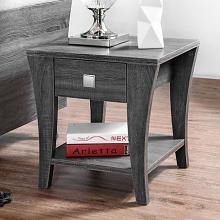 CM4085E Wrought studio mcnaughton amity grey finish wood end table with drawer