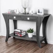 CM4085S Wrought studio mcnaughton amity grey finish wood sofa entry console table with drawers