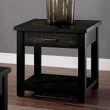 CM4123E Canora grey gillespie rhymney rustic dark oak finish wood end table with drawers