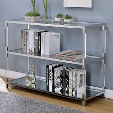 CM4153S Ludvig chrome metal and tempered glass and acrylic sofa table