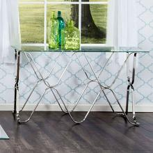 CM4229S-PK Vador chrome metal and beveled glass finish sofa table