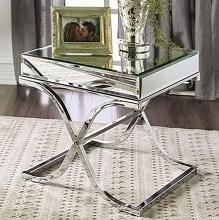 CM4230CRM-E Sundance chrome metal and beveled mirror finish end table