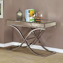 CM4230CRM-S Sundance chrome metal and beveled mirror finish sofa table
