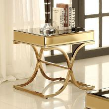 CM4230-E Sundance brass metal and beveled mirror finish end table