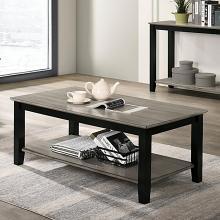 CM4383C Red barrel studio ciana grey / black wood finish coffee table lower shelf