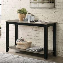 CM4383S Red barrel studio ciana grey / black wood finish sofa entry console table lower shelf
