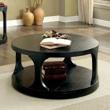 CM4422C Red barrel studio honeoye carrie antique balck finish wood round coffee table with lower shelf