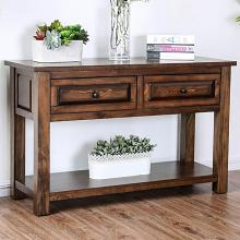 CM4613S Millwood pines burr annabel walnut finish wood sofa console entry table with drawer