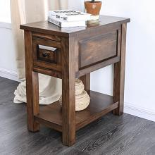 CM4613ST Millwood pines burr annabel walnut finish wood chair side end table with drawer