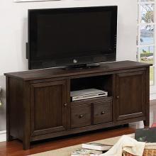 CM5902DA-TV-60 Presho dark oak finish wood double cabinet TV stand