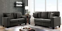 CM6034 2 pc Pingree dark gray linen like fabric sofa and love seat set