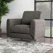 CM6088BR-CH Lauritz brown linen like fabric accent side chair