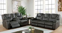 CM6219GY 2 pc Red barrel studio ffion grey leatherette sofa and love seat with power recliner ends