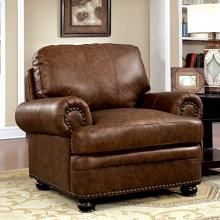 CM6318-CH Rheinhardt brown top grain leather match chair
