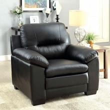 CM6324BK-CH Parma black padded leatherette chair