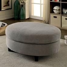 CM6370-OT Copper Grove Brezovo sarin aretha warm gray linen like fabric oval ottoman