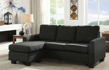 CM6593GY 2 pc Latitude run emaliya gray linen like fabric sectional sofa with reversible chaise