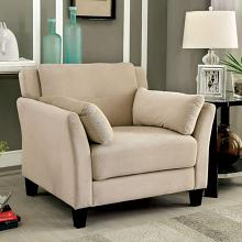 CM6716BG-CH Ysabel beige flannelette fabric accent chair