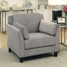 CM6716GY-CH Ysabel gray flannelette fabric accent chair