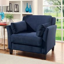 CM6716NV-CH Ysabel navy flannelette fabric accent chair
