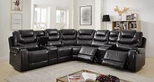 CM6895GY 7 pc Darby home co mariah gray leatherette sectional sofa with power motion recliner ends