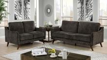 CM6971DG 2 pc Corrigan studio kennedyville maxime dark grey chenille fabric sofa and love seat set