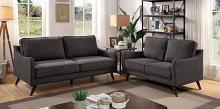 CM6971GY 2 pc Corrigan studio kennedyville maxime grey linen like fabric sofa and love seat set