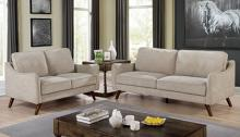 CM6971LG 2 pc Corrigan studio kennedyville maxime light grey chenille fabric sofa and love seat set