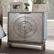 CM7521-N Kamalah antique gray finish wood nightstand with arch design